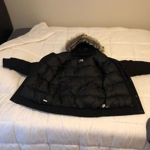 North Face Fur Hooded Aligned Coat